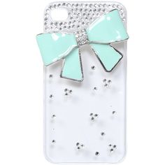 PHONE SPARKLE - Bling Epoxy Bow Phone Case ($9.90) found on Polyvore