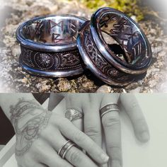 Recently commissioned Silver Serpent Wedding rings, and a lovely photo I received today from the happy customers... www.jasonofengland.co.uk