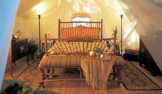 Roughing It? Glamping in a guest tent at the Clayoquot Wilderness Resort on Vancouver Island. Tent Camping Beds, Glam Camping, Camping Glamping, Luxury Camping, Camping Ideas, Luxury Travel, Wilderness Resort, Wall Tent, Luxury Tents