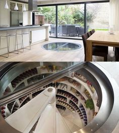 Fridge under floor! Amazing!