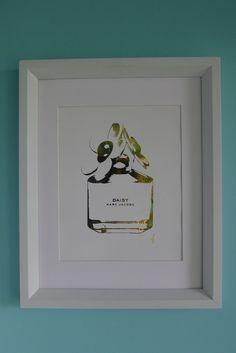 Marc Jacobs Daisy Perfume Bottle print - home decor Marc Jacobs Daisy Perfume, Framed Art, Wall Art, Diy Art, Perfume Bottles, Fancy, Diy Crafts, Mj, Beautiful Things