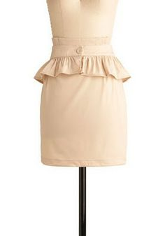 You can make your own ruffled peplum skirt instead of spending more than 30$ on one!