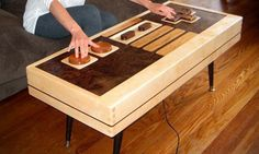 coffee table/game controller
