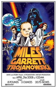 Awesome Star Wars Baby Announcement - would make a cool invitation too 2nd Baby, Baby Love, Baby Birth, Baby Baby, Star Wars Nursery, Birth Announcement Sign, Pregnancy Announcements, Look Star, Star Wars Baby