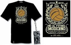 Tshirt No al futbol moderno