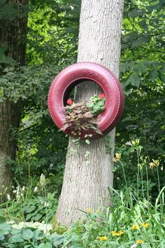Recycled Car Tires in the Garden on Pinterest | Old Tires, Tire ...