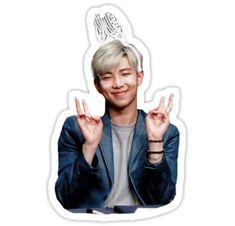 Esta es una foto hecha con una pegatina. Esta foto es de Namjoon (Rap Monster) y se toma a una firma de autógrafos. • Also buy this artwork on stickers.