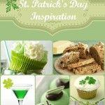 St. Patrick's Day. Green cake, white icing , green shamrocks