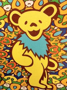 ☮ American Hippie Classic Rock Music ~ Grateful Dead... besides the pink, this is my favorite bear...maybe tattoo him on me....