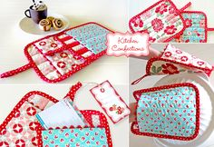 Kitchen Confections in Moda's Vintage Modern: Patchwork Oven Mitts   Sew4Home
