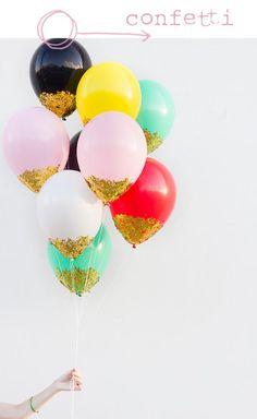 confetti ballons.