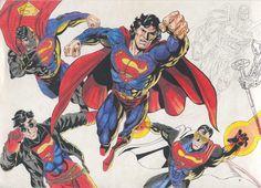 M. Roger Arte: Super Man - Lapiz de cor