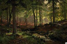 Heinrich Böhmer: Im Wald aus unserer Rubrik: Gemälde des 19. Jahrhunderts: