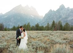 Ceremony was held in a small chapel in Grand Teton National Park.{Chapel of the Sacred Heart, Grand Teton National Park}  Photography By / http://carriepattersonphotography.com