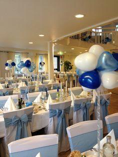 table decor for christening