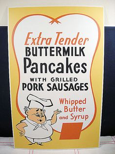 Pancakes - Vintage Menu Poster Sign