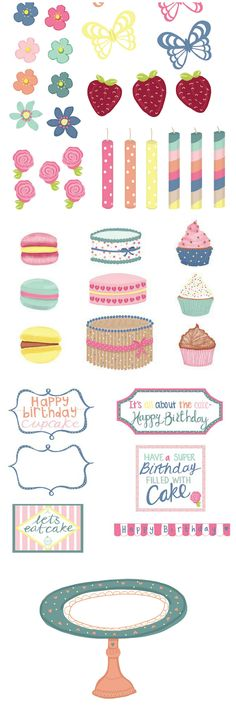 Build your own baking scene with these free card making and scrapbooking printables from Papercraft Inspirations magazine issue 153.