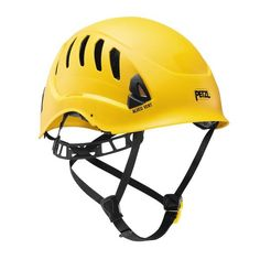 Petzl Pro Alveo Vent Professional Helmet - Yellow *** Check out this great product. Rock Climbing Gear, Power Rangers Dino, Hearing Protection, Hard Hats, Elastic Headbands, Mountaineering, Bicycle Helmet, Yellow