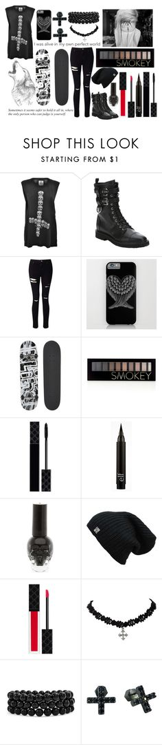 """""""Hurricane Matthew (part 2)"""" by exotic-demon-wolf ❤ liked on Polyvore featuring UNIF, Giuseppe Zanotti, Miss Selfridge, Blind, Forever 21, Gucci, Bling Jewelry and Nicole Miller"""