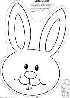 bunny head with ears coloring page - Google Search