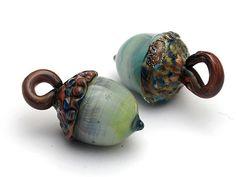 Acorn Handmade Glass Lampwork Beads