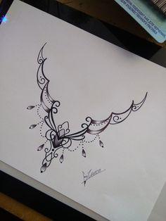 Cav mandala tattoos - Tattoo ideen - s Tattoo Femeninos, Tattoo Hals, Mehndi Tattoo, Sternum Tattoo, Chest Tattoo, Tattoo Drawings, Anklet Tattoos, Tattoo Bracelet, Foot Tattoos