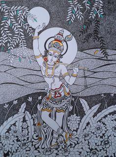 Dalip Chandolia | Krishna II | 12″ x 16″