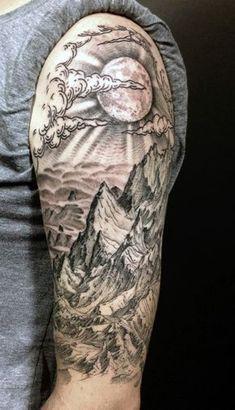 mountain sleeve tattoos