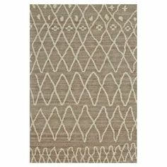 Artfully hand-knotted in India, this eye-catching wool rug showcases a trellis motif inspired by traditional Moroccan textiles.    Product: RugConstruction Material: WoolColor: Natural and slateFeatures:  Hand-knottedMade in IndiaNote: Please be aware that actual colors may vary from those shown on your screen. Accent rugs may also not show the entire pattern that the corresponding area rugs have.Cleaning and Care: Vacuum without a beater bar