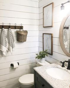 Plank wall bathroom, clawfoot bathtub, basement bathroom, bathroom renos, m Guest Bathrooms, Large Bathrooms, Bathroom Renos, Basement Bathroom, Bathroom Renovations, Amazing Bathrooms, Modern Bathroom, Small Bathroom, Bathroom Ideas