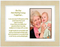 Amazon.com: First Mother's Day Gift for Grandmother from Grandchild - New Grandma Poem in a 5x7 Inch Gold Frame - With Room for a Photo: Eve...