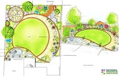 Circle Plan Garden Design…some really great info and lots of awesome ideas for your own gardens! Circle Plan Garden Design…s Garden Design Ideas On A Budget, Simple Garden Designs, Garden Design Plans, Modern Garden Design, Plan Design, Layout Design, Home Design, Contemporary Garden, Small Square Garden Ideas