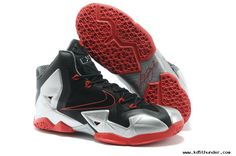 new york 1ff8b 01bc0 Womens Nike LeBron 11 Black Silver Red Nike Kids Shoes, Nike Shoes Cheap,  Adidas