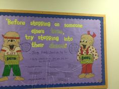 Let students tell YOU what bullying is and how they would prevent it or react to bullies! Interactive Bulletin Boards, Bullying Prevention, Bullies, Someone Elses, Students, Classroom, Lettering, Education, Digital