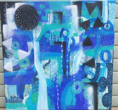 Abstract art. Blue colors