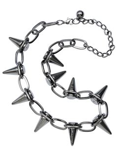 Spiked Choker Necklace by Kitsch 'n' Kouture (Silver) #InkedShop #spiked #choker #necklace #jewelry
