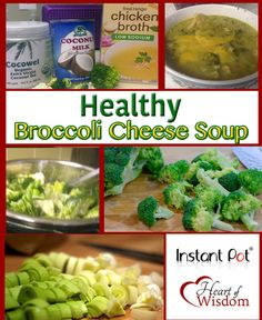 Healthy Broccoli Cheese Soup in the Instant Pot Pressure Cooker