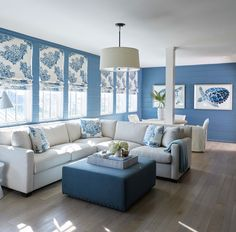 Beachy lounging space of Rosemary Beach, FL home designed by Melanie Turner Interiors {House of Turquoise}