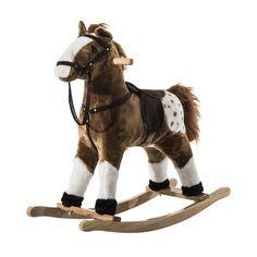 Este caballito balancín es ideal para los más pequeños de casa. Es de peluche y lo pueden utilizar a partir de los 3 años. El caballo emite música cuando le presionas las orejas. Es de felpa y madera, sus medidas son 73x30x70cm. Diversión asegurada para los niños. Puedes comprarlo online en https://www.aosom.es/juguetes-ocio/homcom-caballito-mecedora-de-peluche.html con envíos gratis a España y Portugal en 24h/48h.