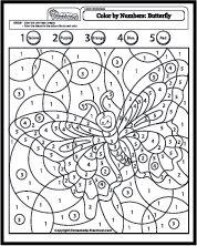 http://www.homemade-preschool.com/color-by-number-coloring-pages.html: malen nach Zahlen, Wahrnehmung, Zahlen, genau schauen, suchen, Zahlen in entsprechender Farbe anmalen, ein riesige Sammlung an Bildern zum ausmalen, Mathe, Klasse 1, Vorschule