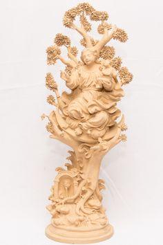 """OSMUNDO TEIXEIRA. ARTE POPULAR. """"NOSSA SENHORA DA CONCEIÇÃO"""". Imagem em cerâmica . Alt. 62 cm"""