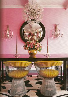 wouldn't want colors this bright in my house...but so cute for a salon. or bakery.