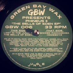 #nowspinning Phineus II - The Bells Of Eden EP. Green Bay Wax: GBW 006 (2017). Hold tite and enjoy the ride. New 4 tracker from the GBW crew. You know what to expect - everything and the unexpected. #dnb #drumandbass #drumnbass #jungle #phineus #greenbaywax #gbw #vinyl #vinyljunkie #record #recordcollector #recordcollection #recordplayer #igvinylclub #igvinylcommunity #instavinyl