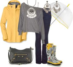 """""""Días de Lluvia"""" by outfits-de-moda2 on Polyvore"""