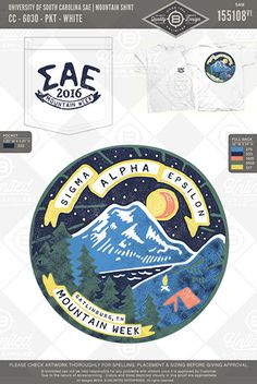 University of South Carolina Sigma Alpha Epsilon Mountain Shirt  #B-Unlimited…