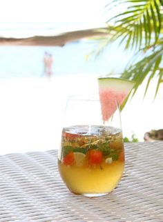Watermelon Delight Tropical Drink