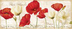 RB6795CC  Paris Poppies Panel II  8x20