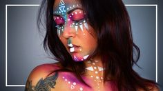 In this Makeup Tutorial I will show you how you can make this neon Tribal / Warrior / Aztec look :D Don't forget to like this and subscribe to my channel, it...
