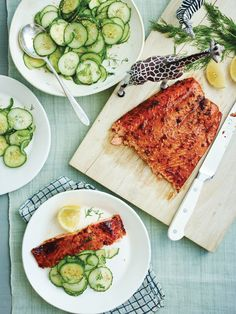 Ginger Salmon with Sesame Cucumbers Broiling is our new favorite way to cook salmon. Get the recipe from Delish. Cucumber Recipes, Easy Salmon Recipes, Seafood Recipes, Cooking Recipes, Healthy Recipes, Eat Healthy, Keto Recipes, Shellfish Recipes, Healthy Liver