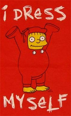 Ralph Wiggum - Simpsons T-shirt. I dress myself: